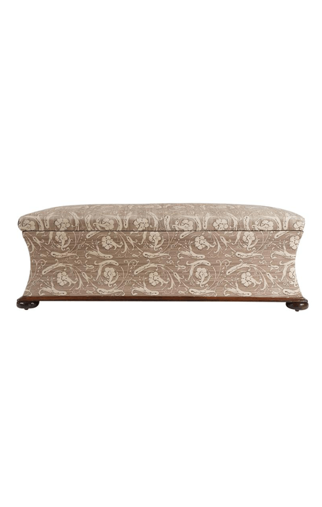 Large Upholstered Hassock Bench Or Blanket Chest, England, Circa 1850